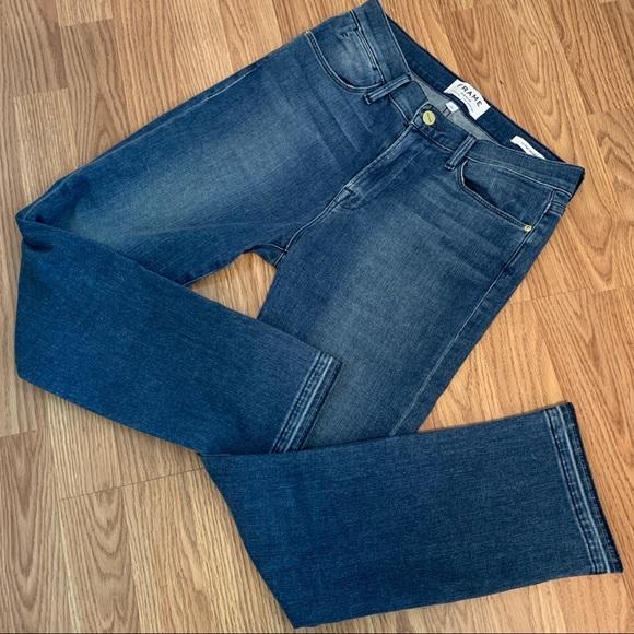Frame Denim Denim - Frame Le High Straight Blue Jeans